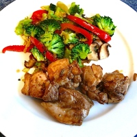 Balsamic & Rosemary Chicken with Stir Fried Ginger Vegetables