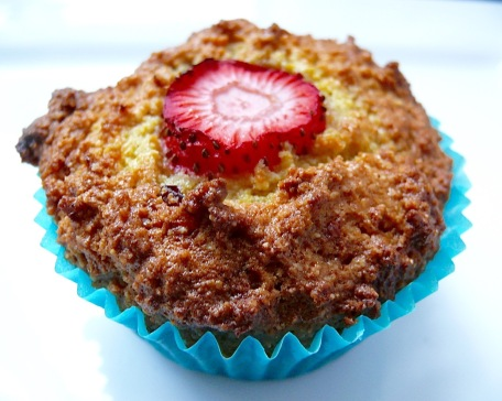 Orange, cranberry & strawberry muffins