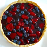 Strawberry & Blueberry Custard Tart