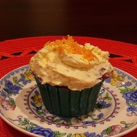 Orange & Cardamon Cupcakes with Orange Cream Cheese Frosting