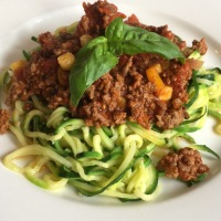 Zoodle Bolognese - #lchf, paleo, primal and very tasty.