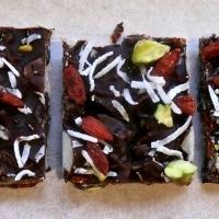 Healthy Chocolate Bliss Bars - paleo friendly treats.