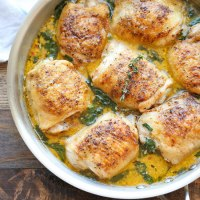 Damn Delicious - Lemon Butter Chicken; a primally inspired, paleo LCHF recipe.